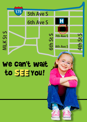 Map to 601 5th St. South, St Pete